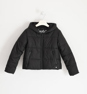 Technical fabric jacket for girl BLACK