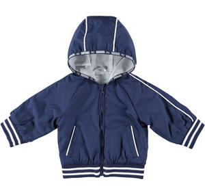 Spring jacket with hood for newborn BLUE