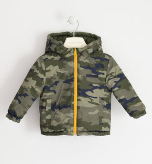 Reversible jacket padded with wadding GREEN