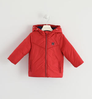 Fleece lined technical jacket RED