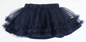 Tulle flared skirt with ruffles at the bottom BLUE