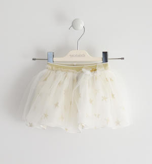 Skirt with tulle embroidered with stars YELLOW