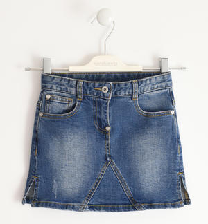 Mini fit stretch denim skirt