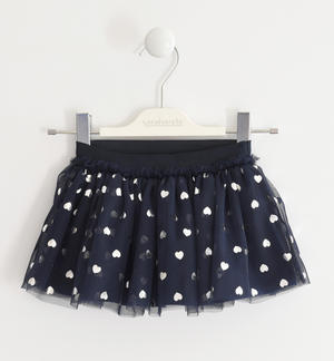 Tulle skirt with hearts BLUE
