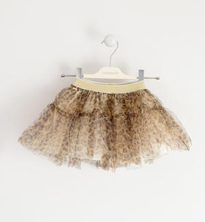 Tulle skirt with lurex elastic band