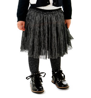 Lurex tulle skirt BLACK