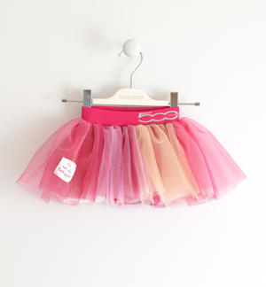 "Multicolour tulle skirt with organic cotton lining ""Sarabanda interprets The New 500"" FUCHSIA"