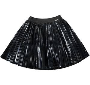 Silver pleated skirt BLACK