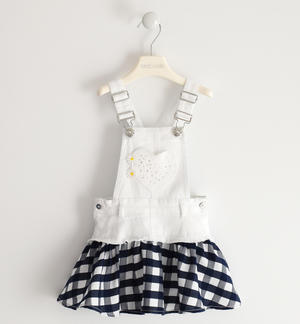 Dungaree skirt with heart