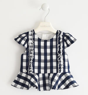Pretty checked shirt with ruffles