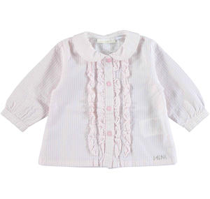 Delightful shirt with jabot PINK