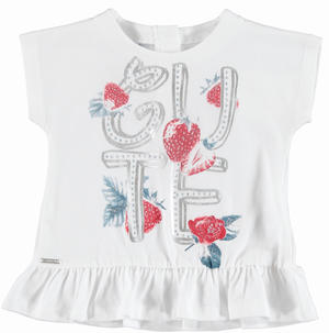Pretty t-shirt with ruffled flounce