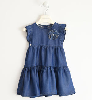 Pretty knitted denim dress