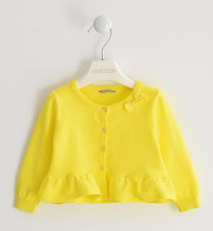 100% cotton tricot cardigan YELLOW