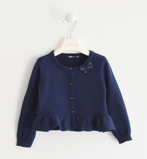 100% cotton tricot cardigan BLUE