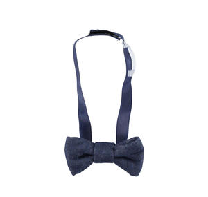 Delightful bow tie with velcro strap  BLUE
