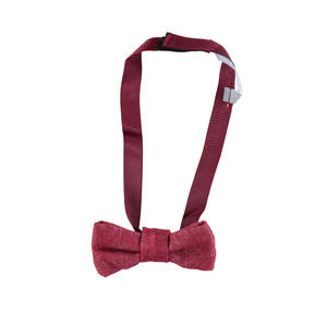 Delightful bow tie with velcro strap  RED