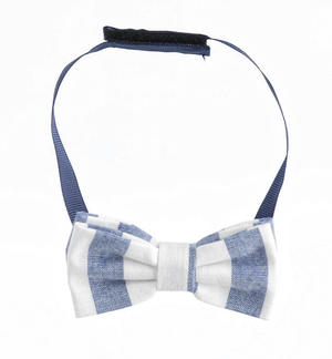 Pretty striped patterned bow tie BLUE