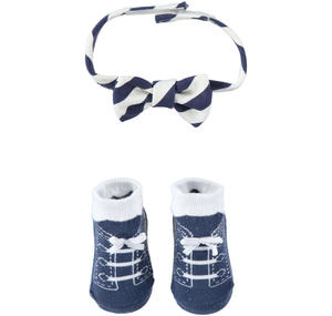Gift idea: kit with baby boy socks and bow ties BLUE