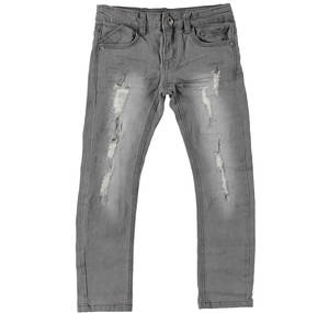 Slim fit jeans with mock slits GREY