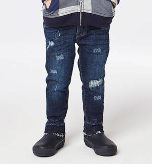 Slim fit jeans with modern rips  BLUE
