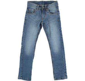 Stone washed slim fit jeans  BLUE