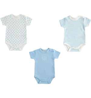 Kit of three boby for newborns 100% cotton