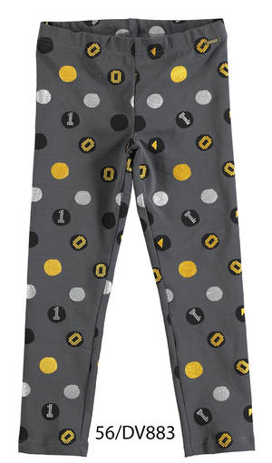 Glitter polka-dot leggings