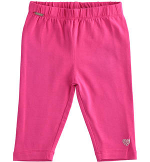Short leggings in stretch jersey FUCHSIA
