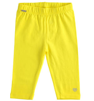 Short leggings in stretch jersey YELLOW