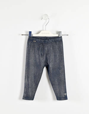 Leggings for girls from 6 months to 7 years BLUE