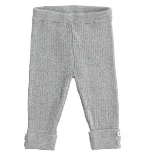 Ribbed viscose blend leggings GREY
