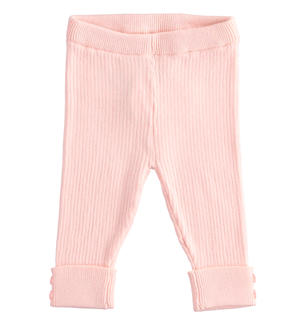 Ribbed viscose blend leggings PINK