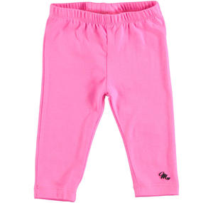 Stretch leggings for baby girls PINK