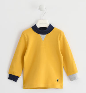 Turtleneck with contrasting colour details YELLOW