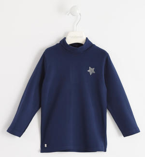 Turtleneck with rhinestone star BLUE