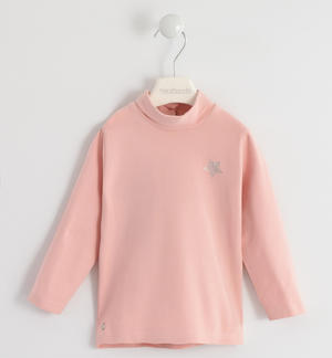 Turtleneck with rhinestone star PINK