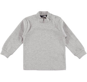Warm cotton interlock polo neck  GREY