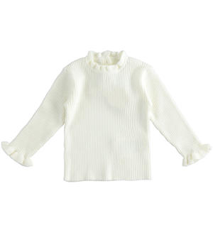 Knitted effect sweater for newborn girl