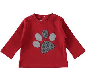 100% cotton long sleeves t-shirt for newborn baby RED