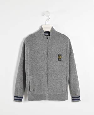 Full zip cardigan with pockets   GREY