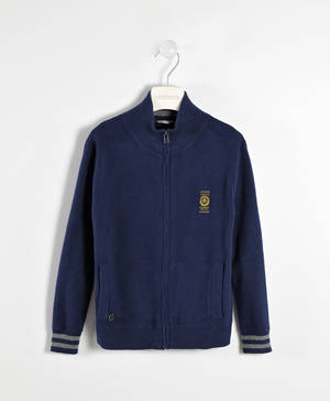 Full zip cardigan with pockets   BLUE