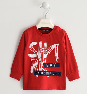 "100% cotton ""Shark Bay"" crewneck sweater RED"