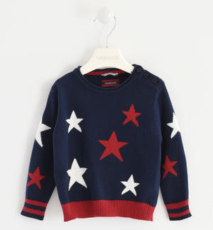 Tricot with a star pattern