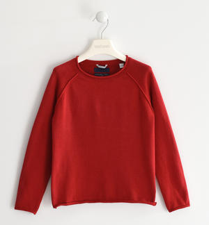 100% cotton knit round neck sweater