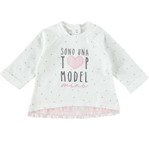100% cotton long sleeve t-shirt with all over stars