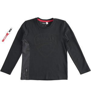 """Sarabanda interprets Ducati"" 100% interlock long sleeve t-shirt BLACK"