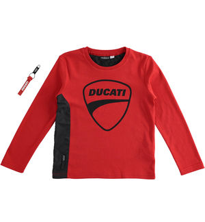"""Sarabanda interprets Ducati"" 100% interlock long sleeve t-shirt RED"
