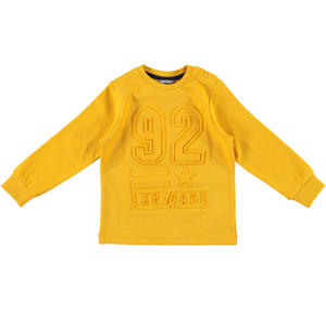 Sweater with a refined embossed print  YELLOW