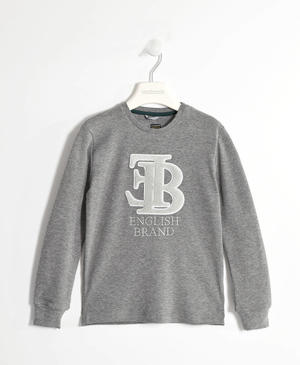 T-shirt with an embossed fleece print   GREY